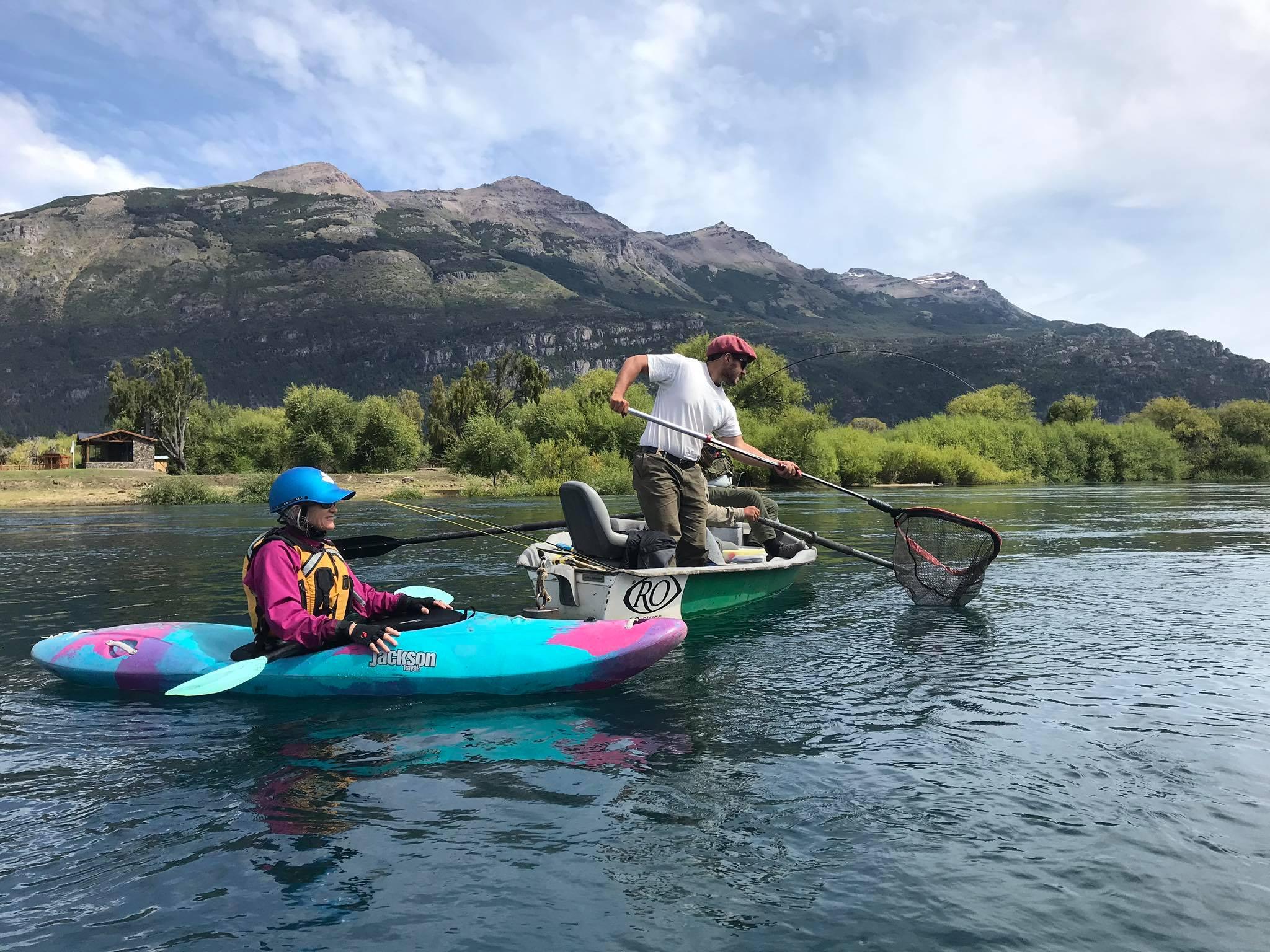 Kayaking Patagonia Argentina El Encuentro Flyfishing