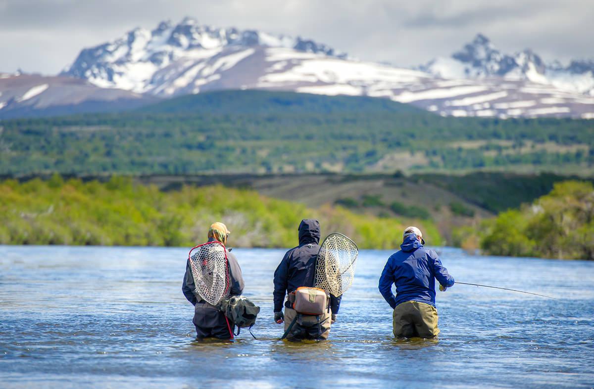 Mountain views while fishing